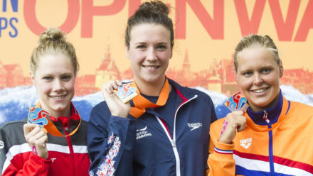 Danielle Huskisson wins 5km gold at European Open Water Champs