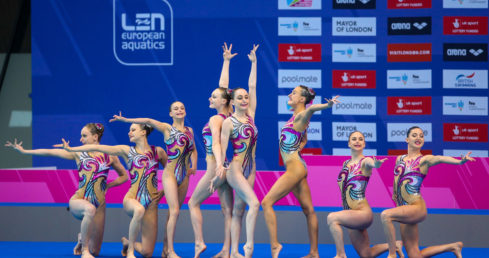 Great Britain at the London 2016 European Championships. Used for England Programmes Synchro page.