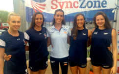 Federici and Clark post free routine PB in California