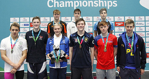 Medallists from the 1500m Freestyle