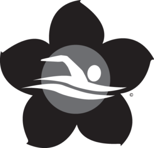Dementia Friendly Swimming logo in black and white