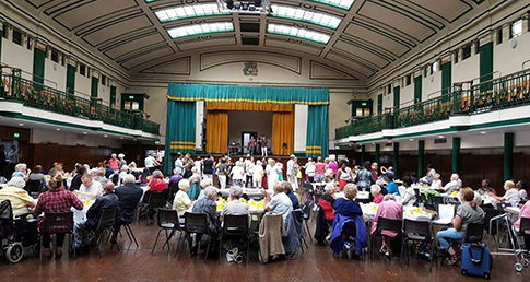Tower Hamlets community enjoying Tea Dance event