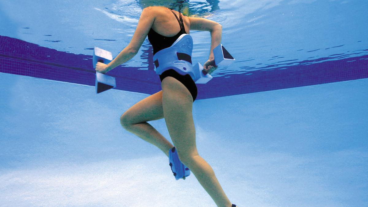 Discover the fitness benefits of aqua jogging.