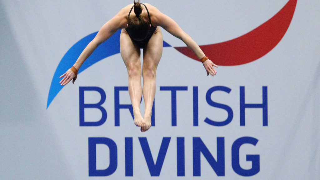 British Diving logo with diver in front