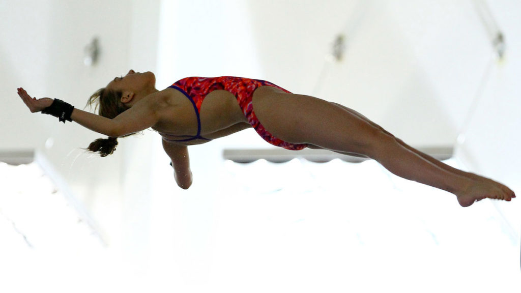 Southampton diver Sarah White diving. Used for Southampton Invitational 2016 event