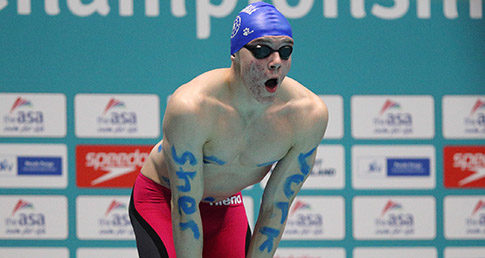 Yorkshire swimmer in relay race