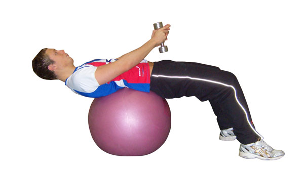 Gym Ball Crunch