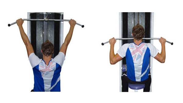 Wide Grip Lat Pull Downs
