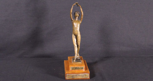 Helen Elkington Trophy. Awarded to the winner of the Solo competition at the National Championships.