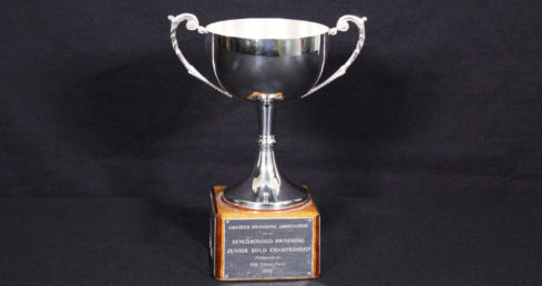 Mrs Y M Price Trophy. ASA Synchronised Swimming trophy for best team in 13-15 Yrs age group at the National Age Group Championships