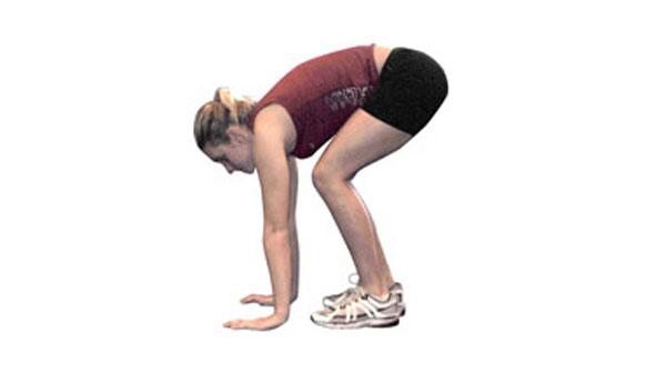 Squat Thrusts Into Squat Jumps