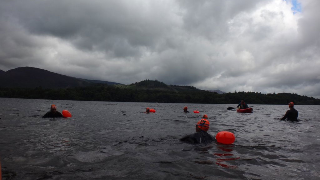 Open water swimming without the competition