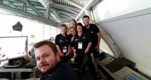 Volunteers at the ASA national swimming championships 2016. Used for the ASA volunteer satisfaction survey.