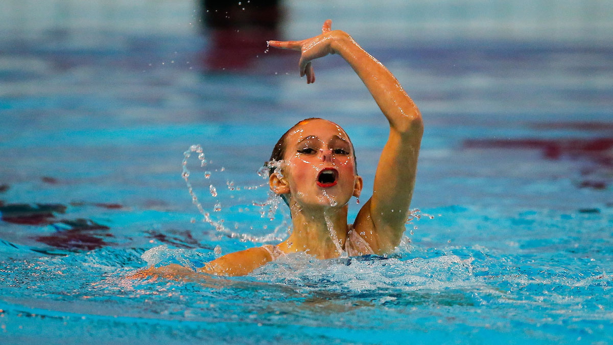 Mimi Gray performing her Solo routine from the 2015 ASA National Age Group Synchronised Swimming Championships