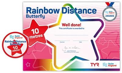 Swim England Rainbow Distance Award
