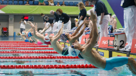 Exciting 50m Backstroke finals to close day three in Sheffield