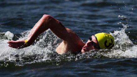 Hughes and Jones wins national 3km open water titles