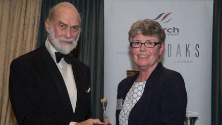Jane Davies receives Torch Trophy Trust Award