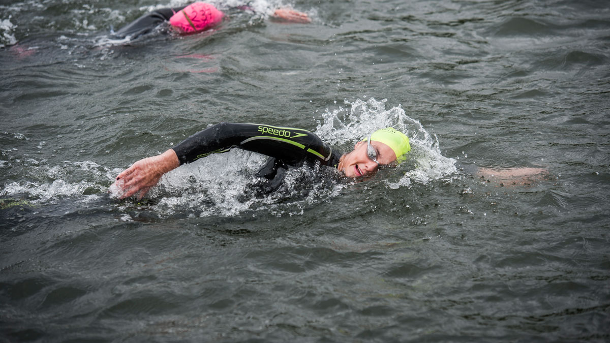 Maintain your front crawl stroke length for open water