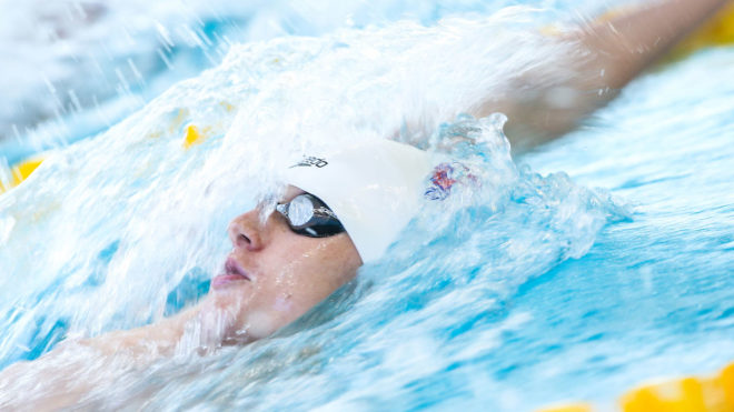 Greenbank completes golden hat-trick with butterfly PB