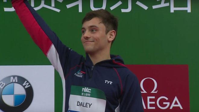 Tom Daley wins World Series bronze in Beijing