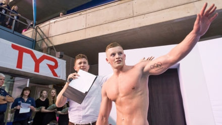 Adam Peaty clocks season's best to win British title