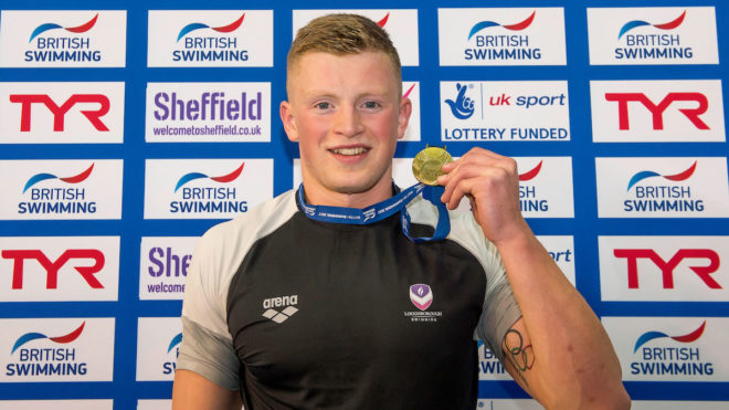 Adam Peaty powers to second gold in Sheffield