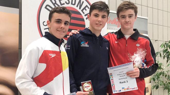 Matthew Dixon wins Group A Platform gold in Dresden