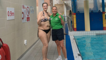 Love Disfigure swimming challenge breaks down barriers