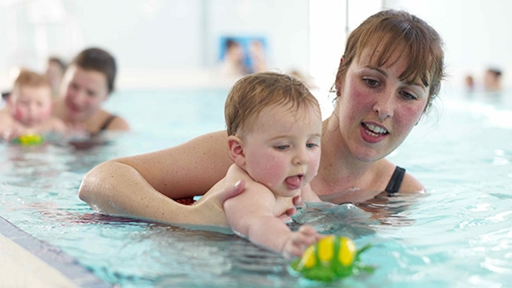 Baby swimming guidance updated