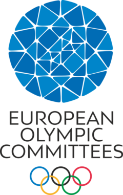 European Olympic Committees logo. PNG logo for EOC. Used for EOC events such as the European Youth Olympic Festival known as EYOF.