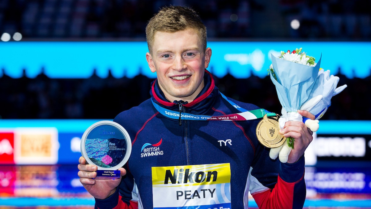 Peaty completes breaststroke double on day four