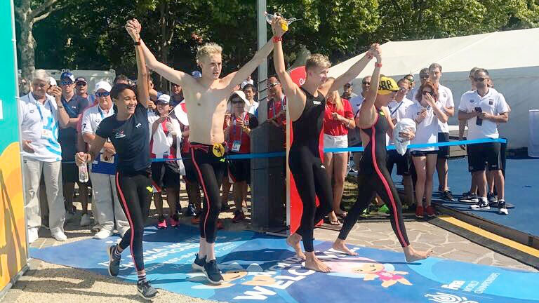 Brits finish fifth after rollercoaster open water relay