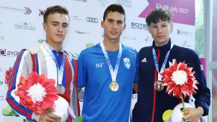 Charlie Hutchison wins 400m IM bronze at European Youth Olympic Festival