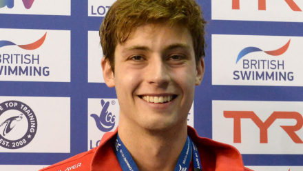 David Cumberlidge wins 50m Free gold in Edinburgh