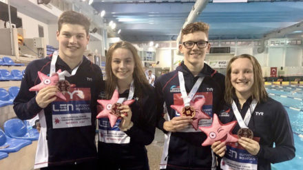British mixed medley relay win bronze in Netanya