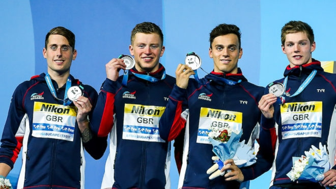 Silver for GB in men's 4x100m Medley Relay