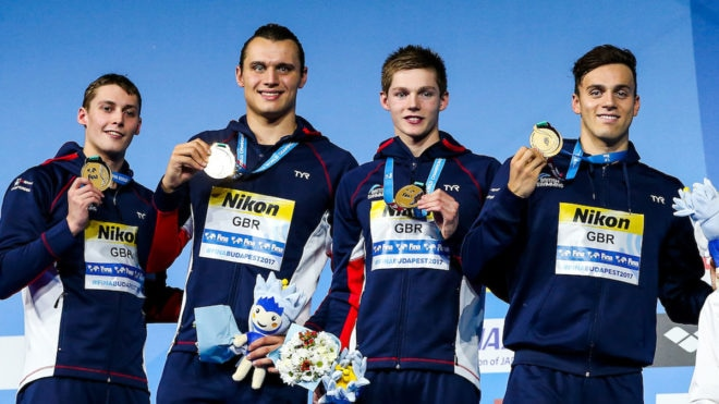 Brits take gold in men's 4x200m Freestyle Relay