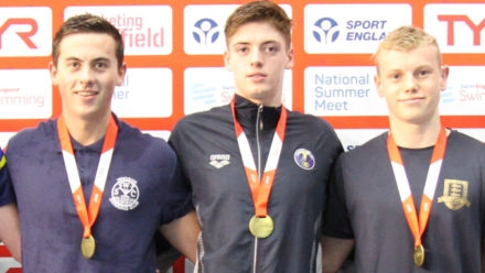 Danny Savage takes 17yrs 50m Freestyle gold