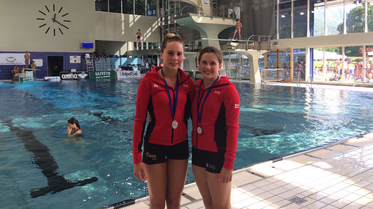 Amelia Connolly and Lucy Sefton with Mediterranean Cup medals