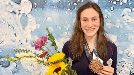 Annabel Guye-Johnson wins 200m Breaststroke bronze at World Juniors