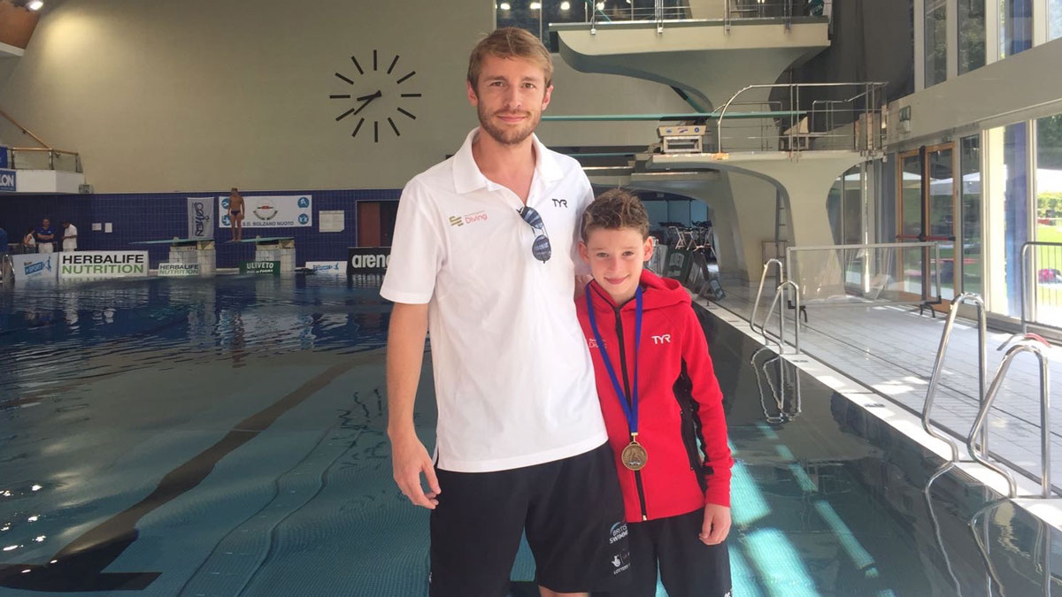 Ben Cutmore with Jack Clewlow at the Mediterranean Cup 2017