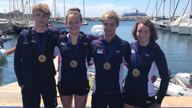 Great Britain land relay bronze at European Junior Open Water Champs