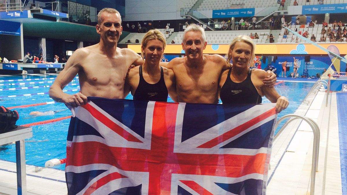 Guildford City SC Masters world record relay quartet from the World Championships 2017