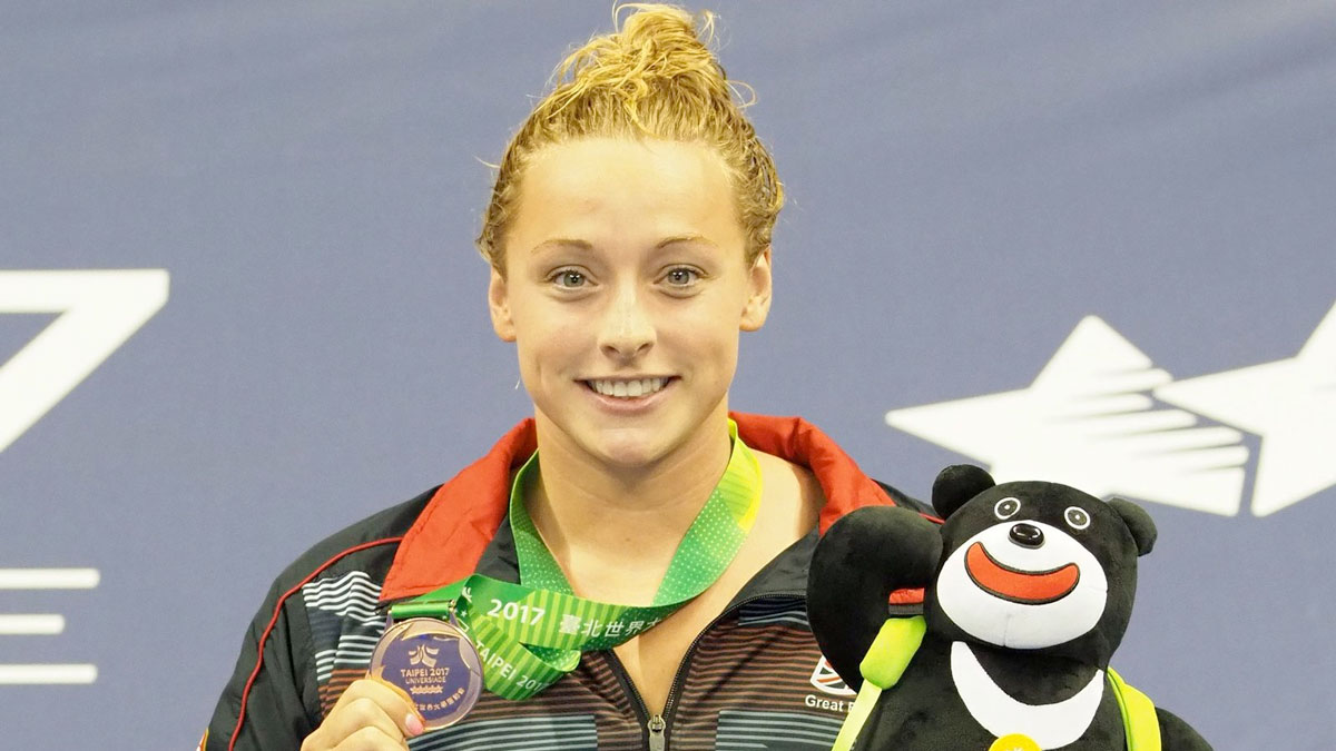 Rachael Kelly reaches Universiade podium with 100m Fly bronze