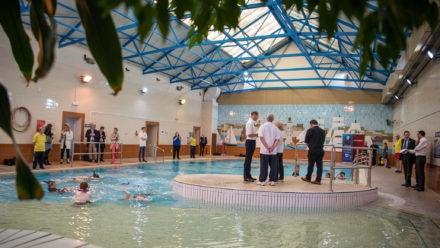 Royal visit to Guinea Gap Leisure Centre