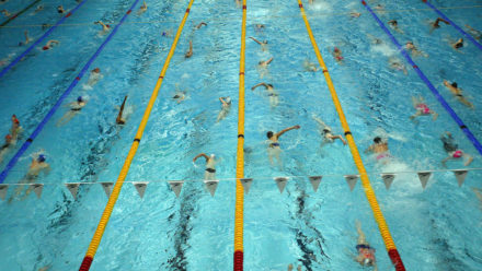 Avoiding Lane Rage In A Busy Swimming Pool