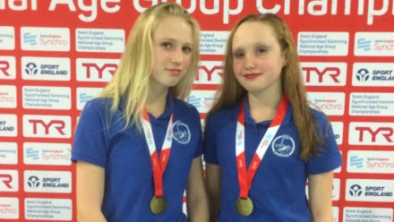 Staples and Saunders take gold in 12yrs and under Duet
