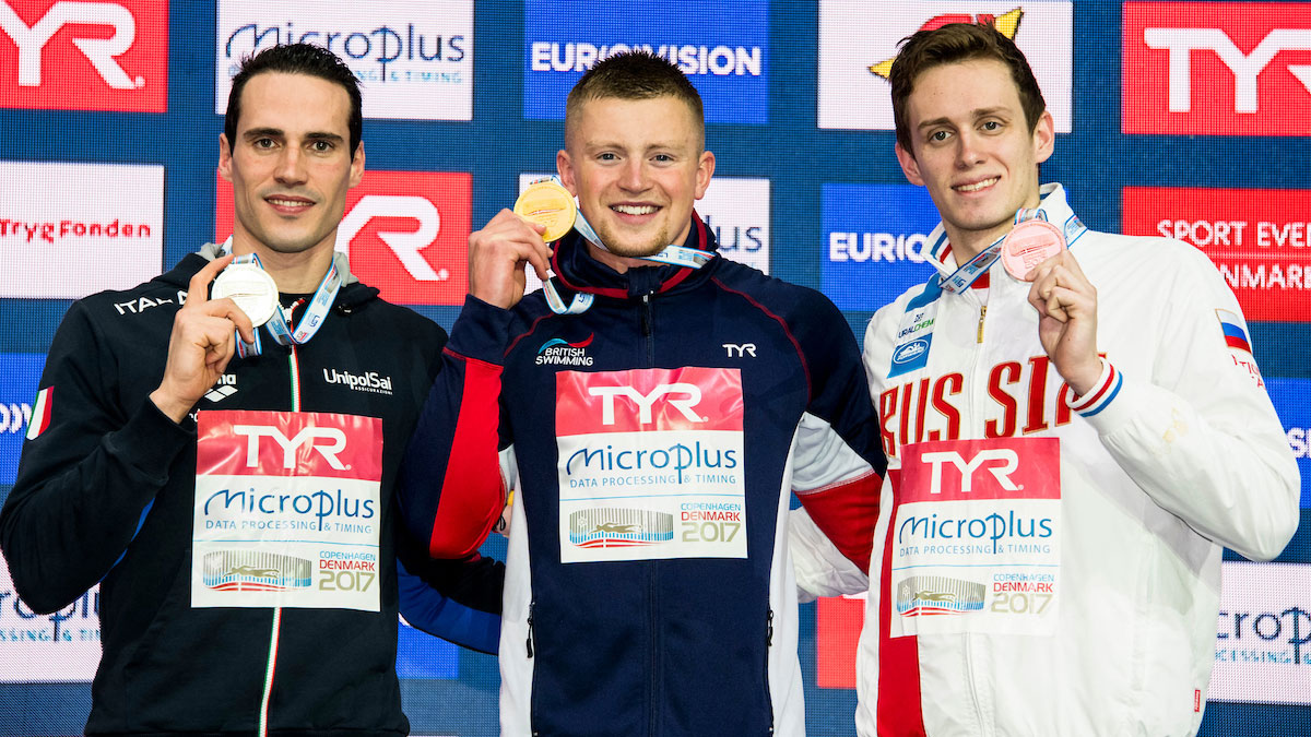 Peaty holds 100m Breaststroke gold on top of the European Short Course podium 2017