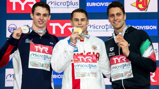 Ben Proud wins European Short Course silver